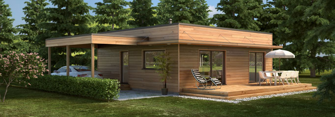 Maison Ossature Bois Contemporaine T4 Plain Pied 69 28m2 Politify Us