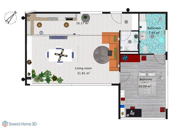 Maison Sweet Home 3d 3D Gallery HouseWithTerrace Plan A1group Co