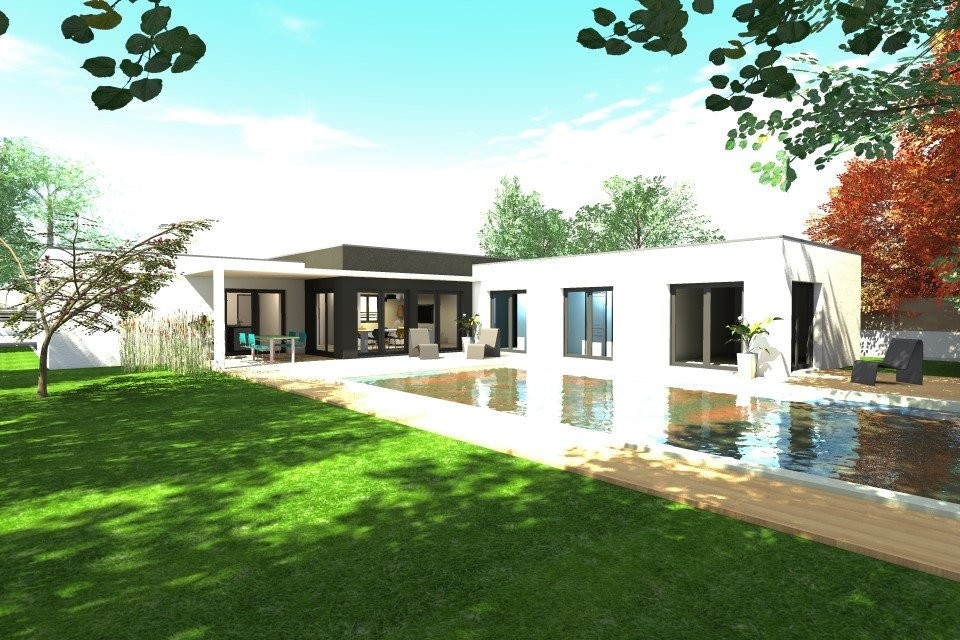 Maison Toit Plat En L A1group Co