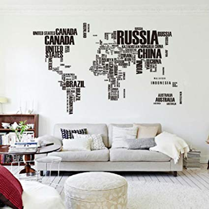 Mapa Del Mundo Carta PVC Original Decoraci N Casera Creativa Room