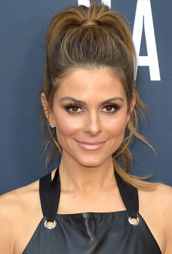 Maria Menounos High Ponytail Nude Lipstick Hairsyyle Pinterest