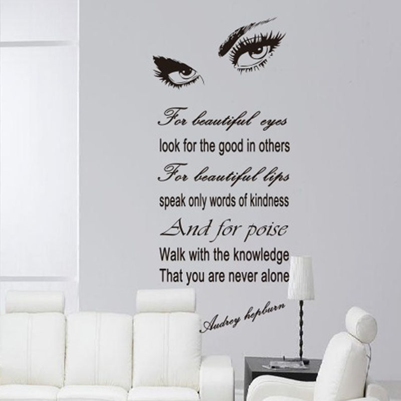 Marilyn Monroe Eyes Wall Stickers Home Decor Bedroom Moderne