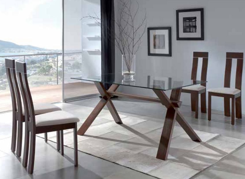 Mesa De Comedor Con Base Madera Pinterest Table