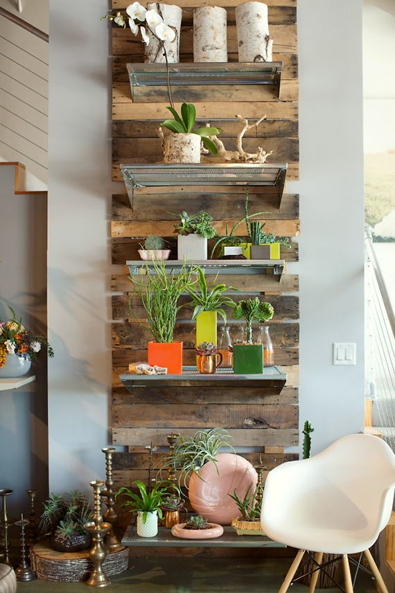 Metal Shelves Plants Gardens Pinterest Palets Hogar Y Decoraci