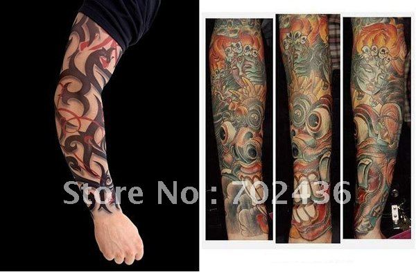 Moda Y La Novedad Body Armor Fake Tattoo Sleeve Brazo Stocking
