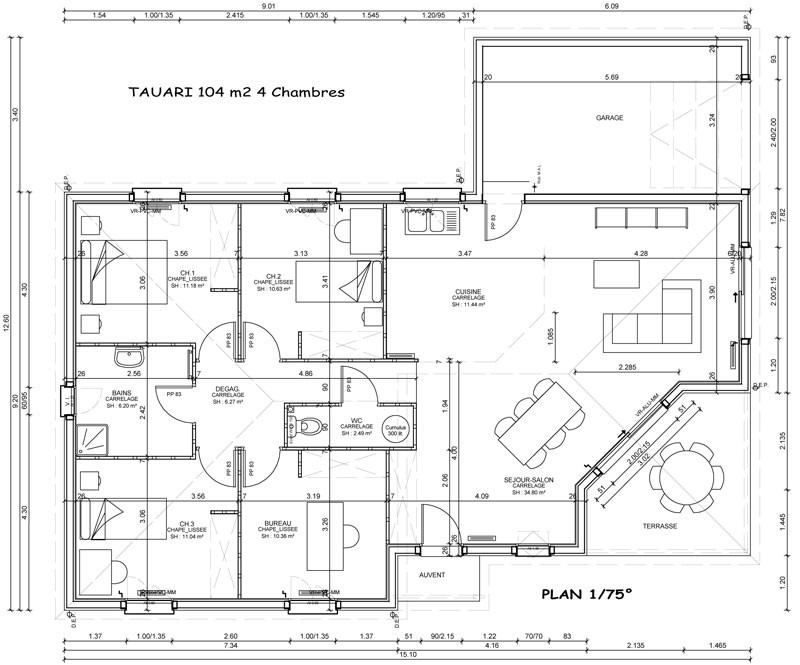 Modele De Plan Maison Choosewell Co House Model Rdc W3038 Ipsita
