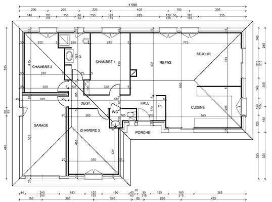 Modele De Plan Maison Enchanteur Exemple Des Plans