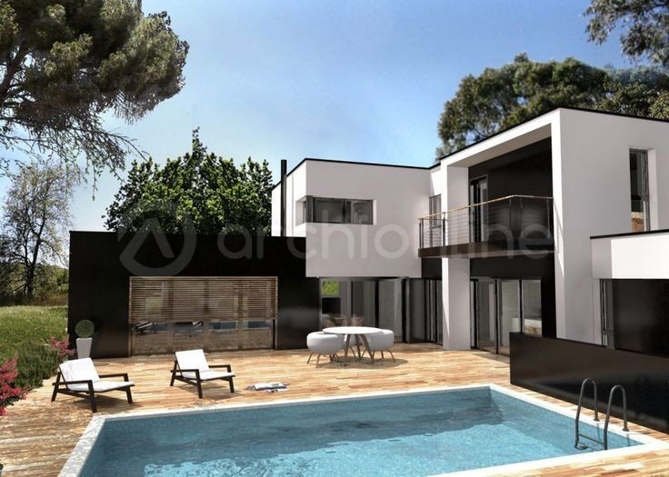 Modele Facade Maison Moderne Photo Villa Ideas Lalawgroup Us