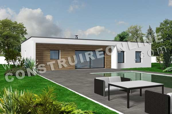 Modele Facade Maison Moderne Plan 2 Lzzy Co A1group