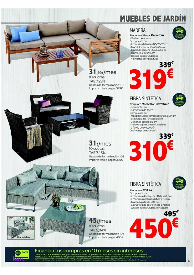 Muebles De Jardin Baratos Oferta Beautiful Mesas Carrefour Con Las