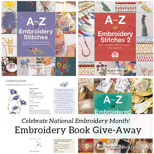 National Embroidery Month Book Give Away NeedlenThread Com