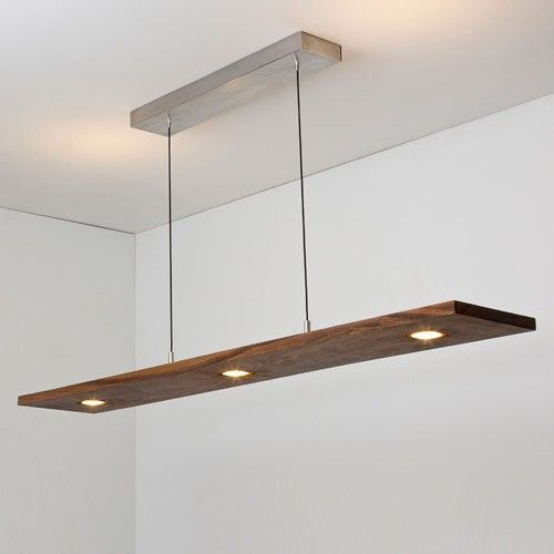 New Vix 5 Light LED Linear Pendant Iluminaci N Luces Y Madera