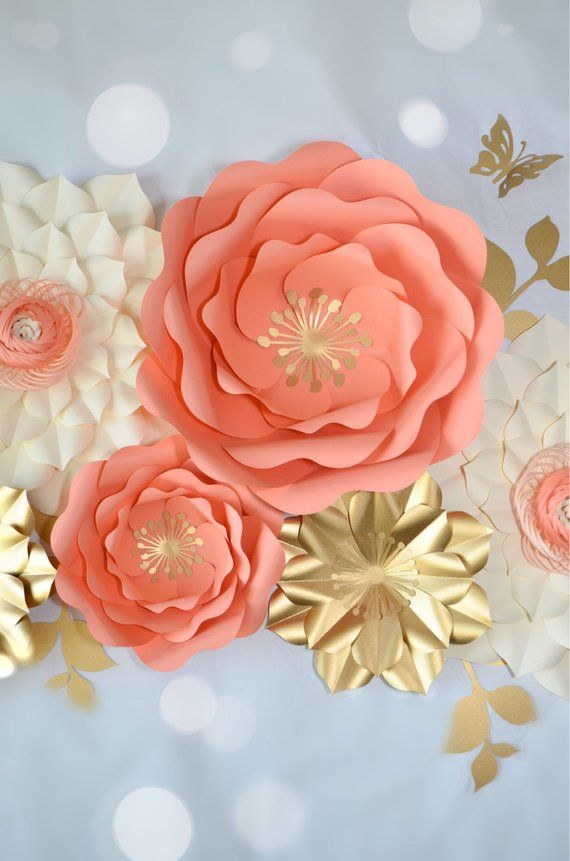 NURSERY PAPER FLOWERS Set By Seattle Giant Flowers Flores Papel