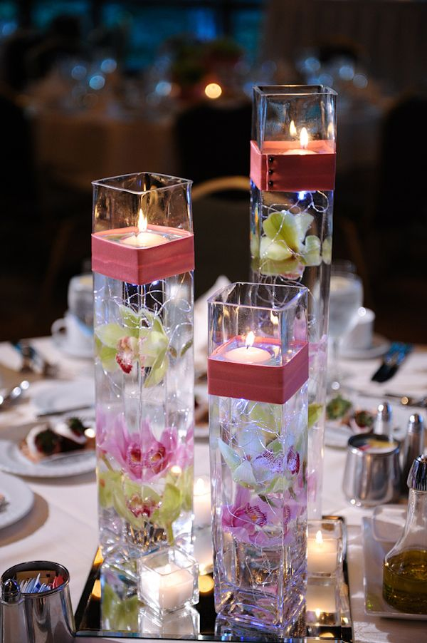 Orchid And Candle Centerpieces Wedding Stuff Pinterest Boda