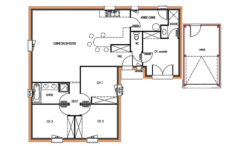 Ordinary Plan Maison 90m2 Plain Pied 7