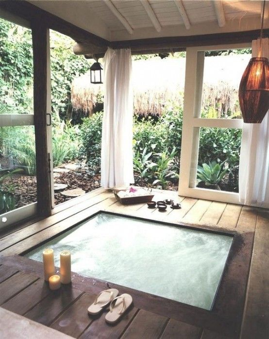 Outdoor Spa Ideas For Your Home The Pinterest