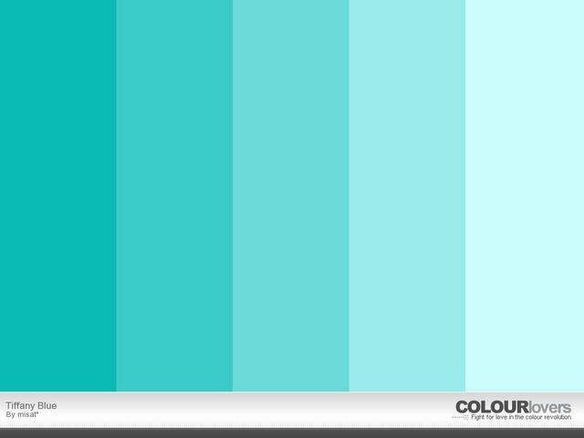 Paleta Azul Tiffany Color In 2018