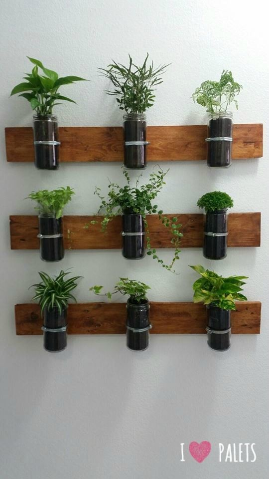 Palets Con Plantas Para Decorar Ideas El Hogar Pinterest A1group Co