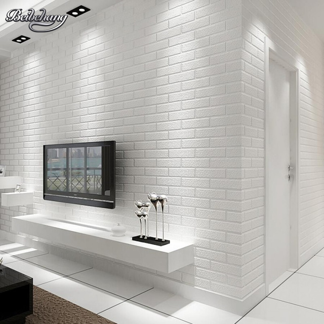 Papel Pintado De Pared Ladrillo Blanco Beibehang