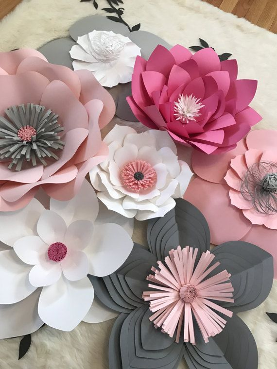 Paper Flower Backdrop Nurdery Decor CUSTOMIZE YOUR ORDER