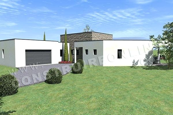 Patio Plain Pied 2 Maison Contemporaine En U Archistyle La