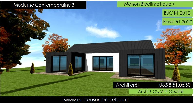Photos Maison Contemporaine Plain Pied Avie Home Facade Pied3 De
