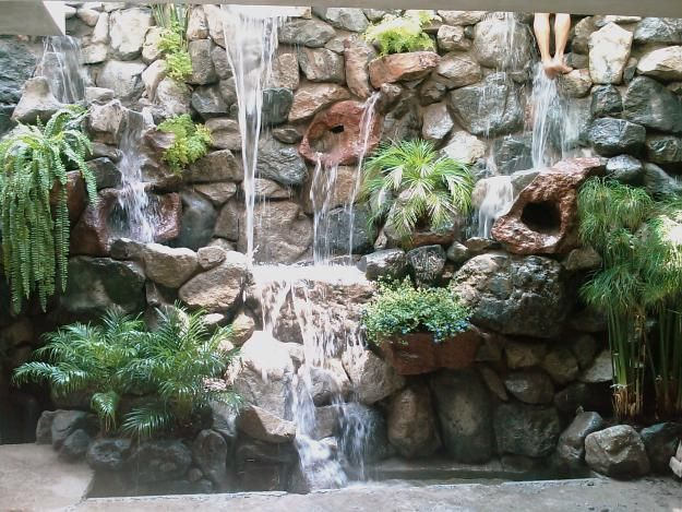 Piedra Para Jardines Pondless Waterfall Pinterest Decoraciones
