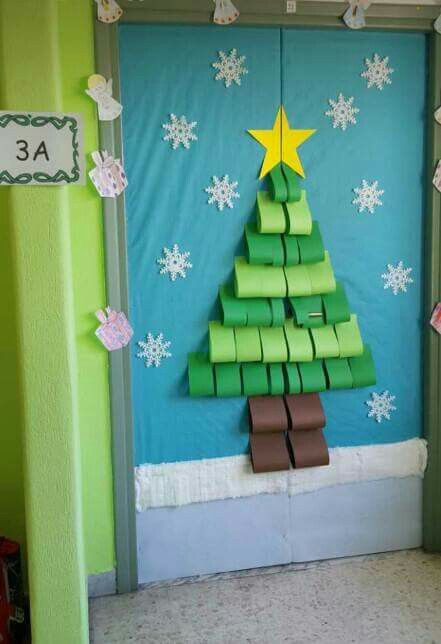 Pin De Lled En Door Decorations Pinterest Navidad