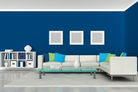 Pintar Casa Interior Azul Full HD MAPS Locations Another World