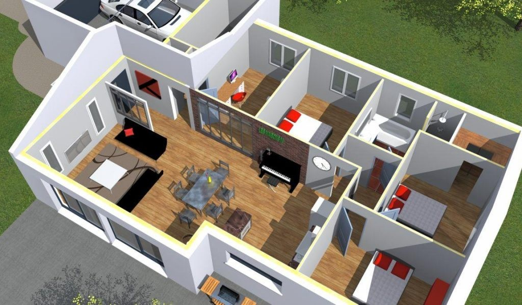 Plan 3d Maison Gratuit De 3D Download Tiny House Designs Free Astana