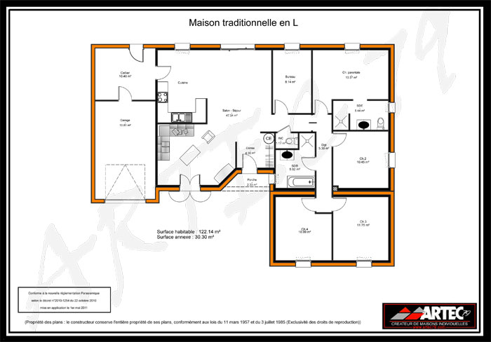 Plan D Architecte Maison Co Plans De En L Construction Spa Ambershop