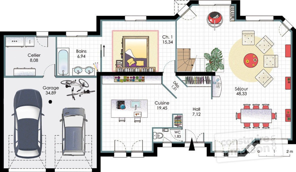 Plan D Une Grande Maison Contemporaine Tail Du De Homewreckr Co