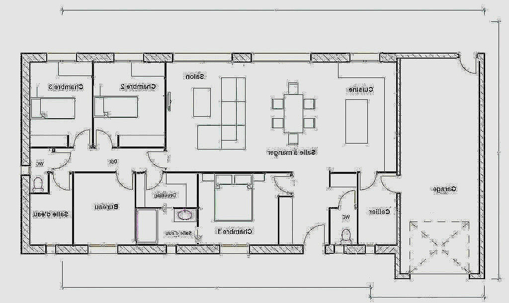 Plan D Une Maison De 120m2 Best Of Plain Pied