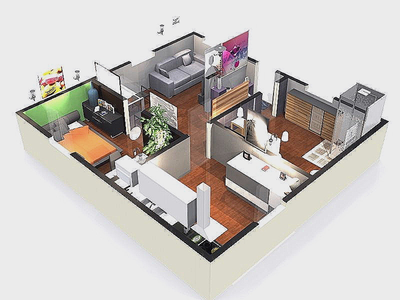 Plan D Une Maison En 3d Belle Your Kitchen In Inspirational