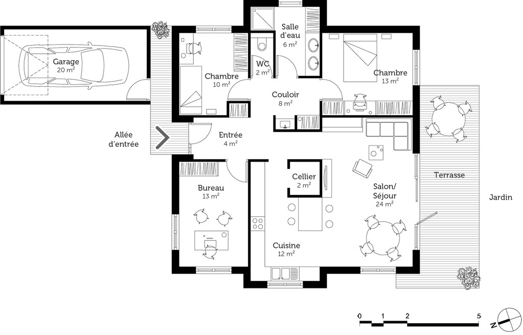 Plan De Construction Maison Et Modernes R 2 1 A1group Co