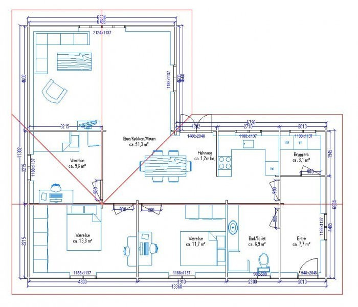 Plan De Maison 100m2 D Une 1 Lzzy Co 5 A1group