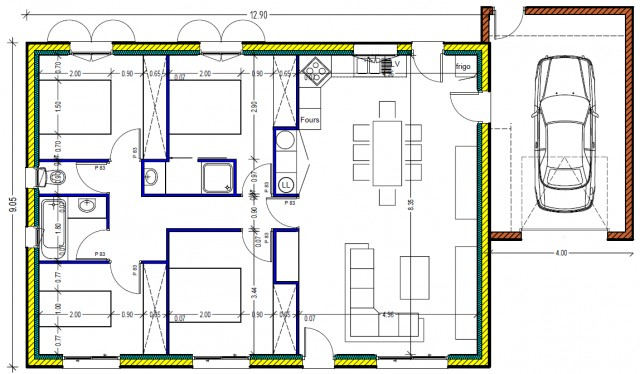 Plan De Maison 100m2 D Une 13 Lzzy Co A1group