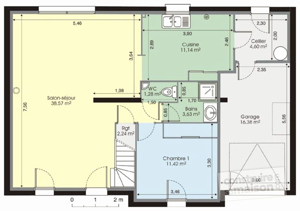 Plan De Maison 110m2 Avec Etage Cool Latest En Forme