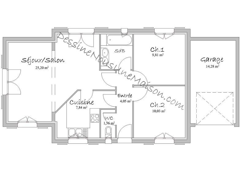Plan De Maison 110m2 Placecalledgrace Com 5aad318449e31 Ipsita Co