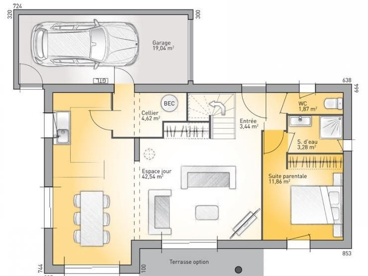 Plan De Maison 110m2 Placecalledgrace Com 5aad318b7301f A1group Co