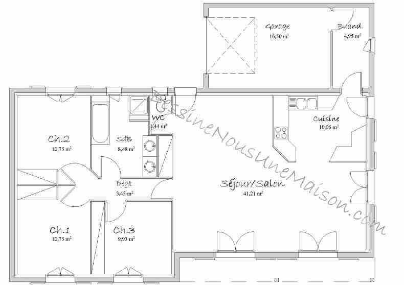 Plan De Maison 110m2 Plans En L Placecalledgrace Com Ipsita Co