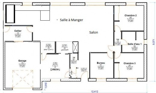 Plan De Maison 110m2 Plein Pied 2 Lzzy Co Plain En L A1group