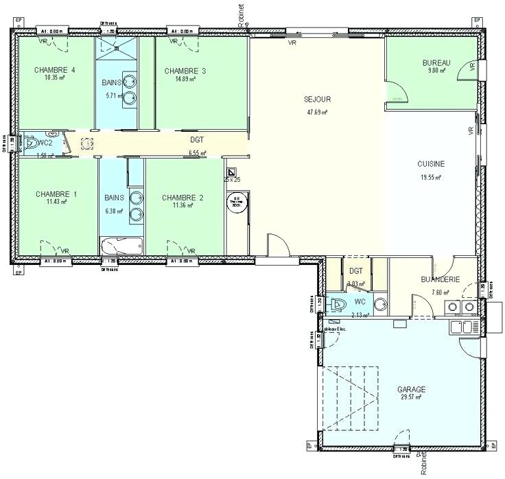 Plan De Maison 120m2 Cheap Appartement M Studio Amricain