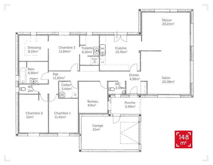 Plan De Maison 150m2 Floorplan Pinterest House