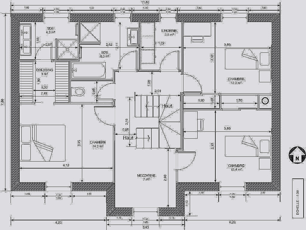 Plan De Maison 2 Etage Best Of Chalet