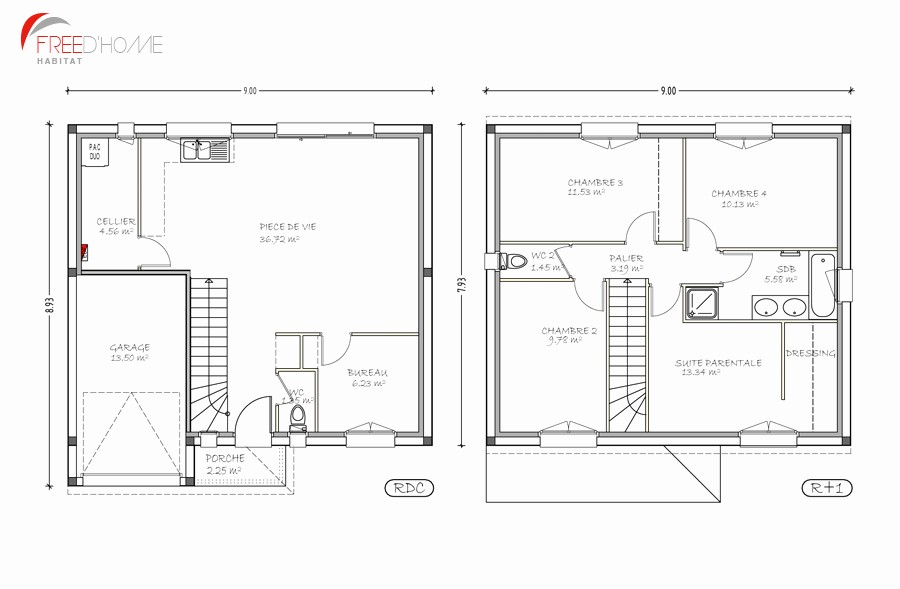 Plan De Maison 2 Etage Deux Etages Choosewell Co Evolution A1group