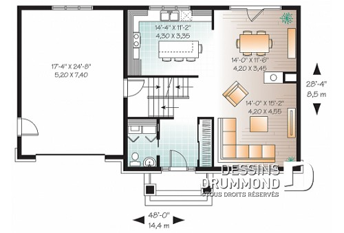 Plan De Maison 2 Etage Tage Avec Garage Plans Dessins Drummond