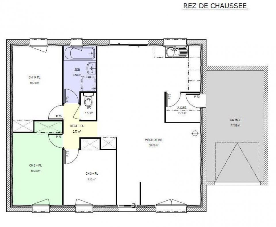 Plan De Maison 2 Pieces Co