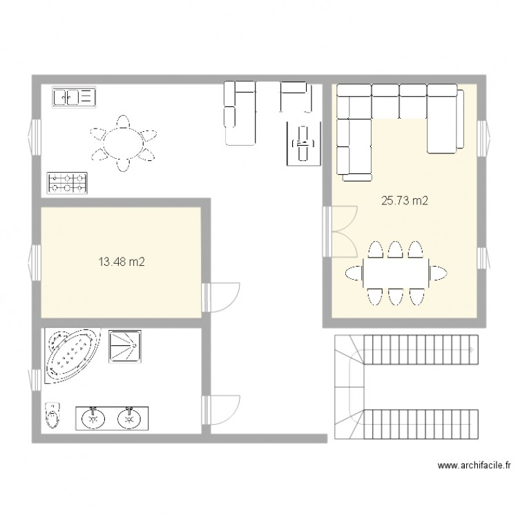 Plan De Maison 2 Pieces Us