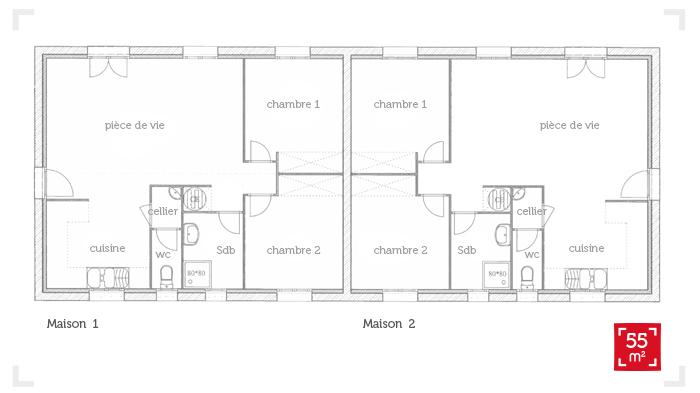 Plan De Maison 2 Pieces